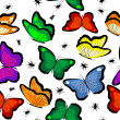 Seamless with butterflies — Stock Photo #3860199