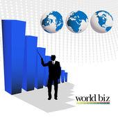Wereld biz — Stockfoto