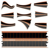 Negative film strips on white — Stock Photo