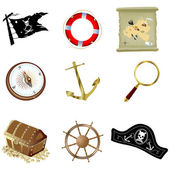 Nautical icons — Stock Photo