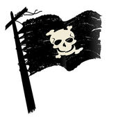 Grunge pirate flag — Stock Photo