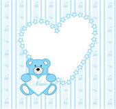 Wallpaper bear — Stock Vector