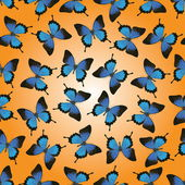 Butterflies seamless vector design — Stock Vector