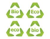 Bio a eko štítky — Stock vektor