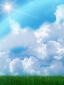 Sun sky clouds — Stock Photo