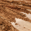 Road   dirty  spring  clay - Stockfoto