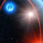 Sky stars sun comet — Stock Photo #3038136