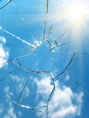 Glass broken — Stock Photo