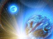 Sky stars planets earth — Stock Photo