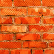 Wall brick red clay — Stock Photo