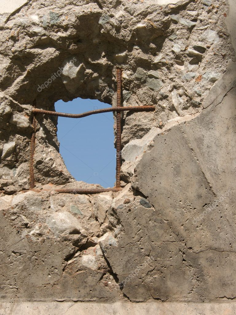 Hole In Concrete Wall : Hole concrete wall images