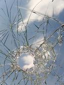 Glass broken automobile — Stock Photo