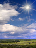 Sun sky clouds sunlight — Stockfoto