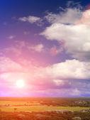 Облака неба заката — Стоковое фото