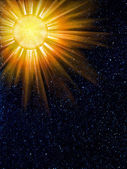 Sky stars sun constellation — Stock Photo