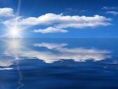 Sunrise sonne himmel meer wolken — Stockfoto
