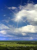 Soleil nuages ciel — Photo