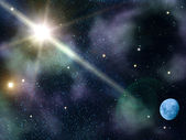 Sky night stars moon — Stock Photo