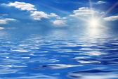 日出太阳天空海 — 图库照片