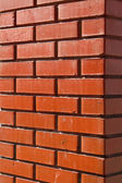 Wall house brick clay — Foto Stock
