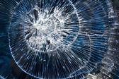 Cracks glass broken — Stock Photo