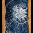 Cracks glass broken — Stock Photo