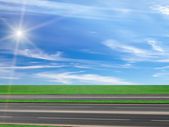 Road asphalted highway — Stock Photo