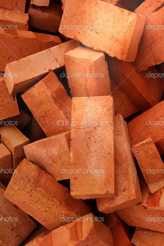Brick  building  clay — Stock Photo #3603620