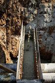 Proces betonování opěrných trubek — Stock fotografie