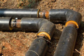 Pipeline trench ground — Stock Photo