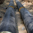 Pipeline  trench  ground — Lizenzfreies Foto