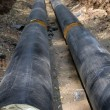 Pipeline  trench  ground - Stock Photo