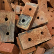Brick  red  clay  ceramic — Stock Photo
