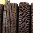 Wheel  rubber — Stock Photo