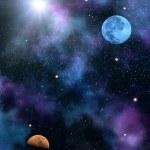 Sky sun stars — Stock Photo