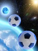 空の星地球月をボールします。 — ストック写真