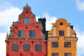 Oldest buildings in Stockholm — Stock Photo
