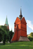 Stockholm. The old wooden church — Stock Photo
