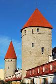 Old Tallinn, Estonia. Two towers — Stock Photo