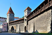 Tallinn, Estonia. Ancient Fortress Wall — Stock Photo