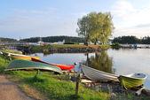 Sunny evening in Savonlinna, Finland — Stock Photo