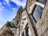 Sagrada Familia from the Ground — Stock Photo