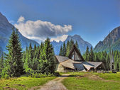 Small Church on top of Dolomites, Italy — Stock Photo