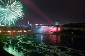 Niagara Falls by Night — Stock Photo