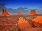 Sunset in Monument Valley, U.S.A — Stock Photo