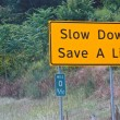 Royalty-Free Stock Photo: Slow Down, Save a Life