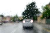 交通和水滴 — 图库照片
