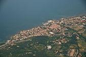 Tuscan Coast from the Aircraft — Zdjęcie stockowe