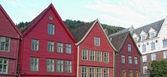 Architektura bergen, norsko — Stock fotografie