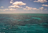 Surface of the Great Barrier Reef near Port Douglas — Stock Photo